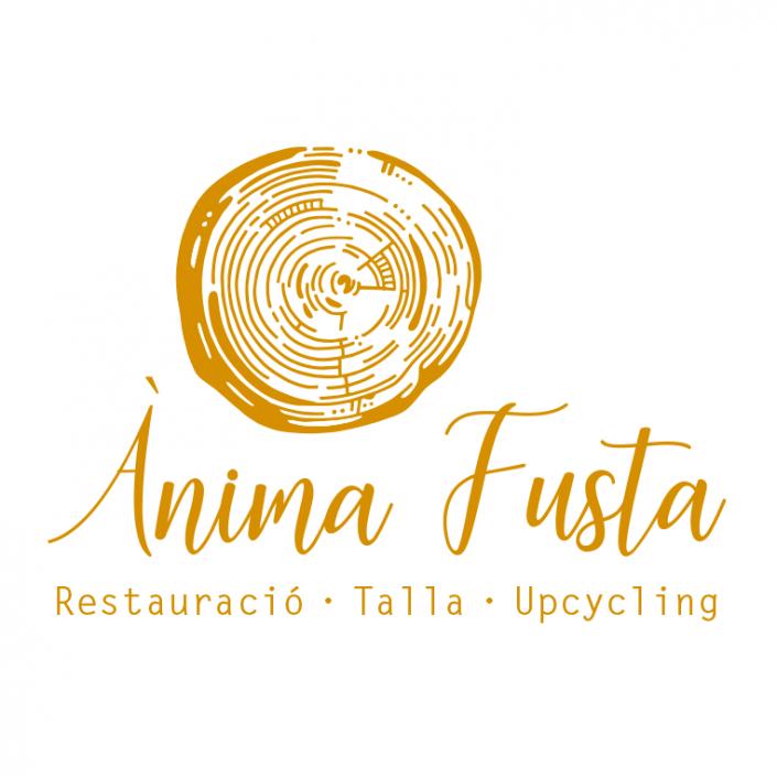Disseny de logotip - Ànima Fusta